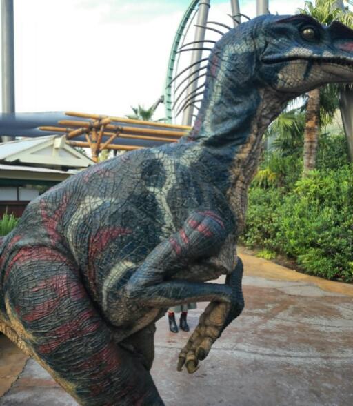 ジュラシックパークの恐竜アップ